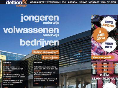 Website des Deltion College