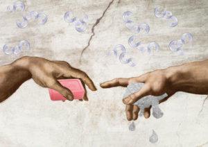 Thema: eine hand waescht die andere